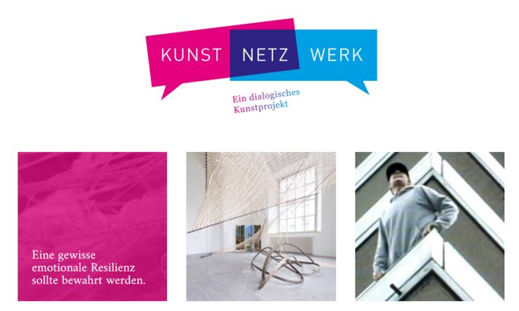 Die Website www.kunst-netz-werk.online